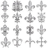 Fleur-de-lis set Royalty Free Stock Images