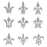 fleur de lis set Royalty Free Stock Photos