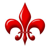 Fleur de lis shiny Royalty Free Stock Photo