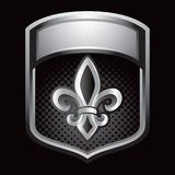 Fleur de lis in silver display Royalty Free Stock Photography