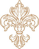 Fleur de Lis Sketch Stock Photo