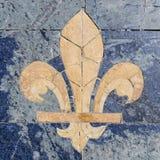 Fleur-de-lis. Stone fleur-de-lis also called fleur-de-lys Stock Images