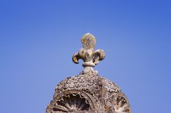 Fleur de lis symbol on a fence. In France Royalty Free Stock Photography