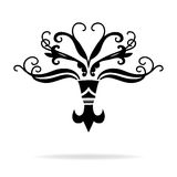 Fleur-de-lis symbol in stylized ornate vector design with curls and swirls Royalty Free Stock Photo