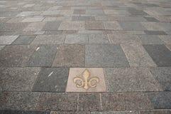 Fleur-de-Lis Tile - Montreal - Canada. Fleur-de-Lis Tile in Montreal - Canada Stock Photo