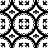 Fleur-De-Lis Tiles Royalty Free Stock Photo