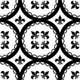 Fleur-De-Lis Tiles. A Ttleable Fleur-De-Lis and circle pattern Royalty Free Stock Photo