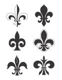 Fleur de Lis - Vector. Traditional Fleur de Lis designs created in Adobe Illustrator.  Jpeg and EPS files are available Royalty Free Stock Image