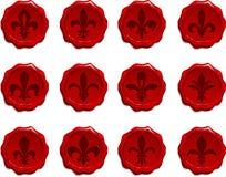 Fleur De Lis Wax Seal Set Foto de archivo libre de regalías