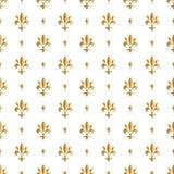 Fleur De Lis wzór, sylwetka - heraldyczny symbol również zwrócić corel ilustracji wektora Średniowieczny znak Jarzyć się Francuza Obrazy Stock