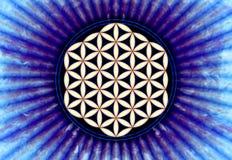 Fleur de Live Symbol - la géométrie sacrée illustration libre de droits