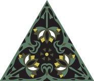 Fleur de lotus traditionnelle chinoise orientale de triangle de modèle Photos libres de droits