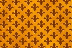 Fleur De Lys Antique Background, Outs indossati del taglio macchiettati oro immagini stock libere da diritti