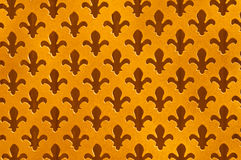 Fleur De Lys Antique Background, saídas salpicadas ouro vestidas do corte Imagens de Stock Royalty Free