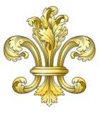 Fleur-de-lys d'or photo libre de droits