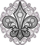 Fleur de lys element Stock Photo