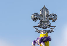 Fleur de lys on the flag Stock Images