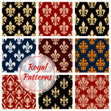 Fleur-de-lys french royal seamless pattern Stock Photos
