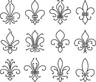 Fleur de lys scroll elements symbol Stock Photo