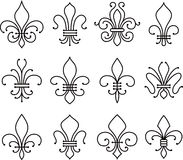 Fleur de lys scroll elements symbol Royalty Free Stock Photos