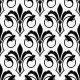 Fleur de Lys seamless bakground pattern Royalty Free Stock Photography