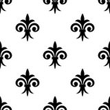 Fleur de lys seamless pattern background Stock Photo