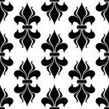 Fleur-de-lys seamless pattern Stock Photo