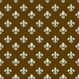 Fleur-de-lys seamless pattern Royalty Free Stock Photos