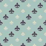 Fleur-de-lys seamless pattern stock illustration