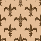 Fleur de lys seamless pattern Stock Images