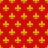 Fleur de lys Seamless Pattern. Endless vector background Royalty Free Stock Image