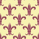 Fleur de lys seamless pattern Royalty Free Stock Photos