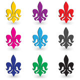 Fleur de lys  set Royalty Free Stock Photos