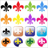 Fleur de lys set Stock Photo
