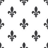 Fleur-de-lys, vector seamless pattern Royalty Free Stock Images
