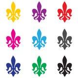 Fleur de lys vector set. An illustration of french fleur de lys set Stock Image
