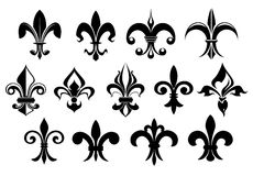 Fleur de lys vintage design elements Stock Photo