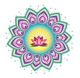 Fleur de mandala Photos stock