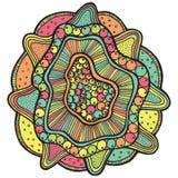 Fleur de mandala de mer avec la perle dans la coquille illustration libre de droits