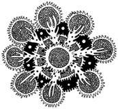 Fleur de mandala de mer avec le corail et les algues illustration de vecteur