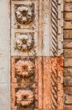 Fleur de marbre sur le portail gothique à Venise photo stock
