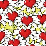 Fleur de modèle sans couture d'amour Pré de fleur Images stock