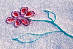 Fleur de neige illustration stock