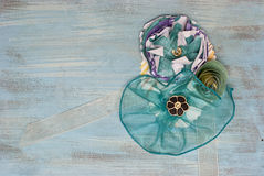 Fleur de papier et corsage de ruban Photos stock