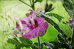 Fleur de peinture d'impressionisme Photos libres de droits