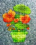 Fleur de pixel photographie stock libre de droits