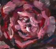 Fleur de plan rapproché de peinture à l'huile Macro rose de plan rapproché de pivoine de grandes fleurs violettes rouges sur la t photo stock
