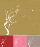 Fleur de prune avec la conception linéaire Photo libre de droits