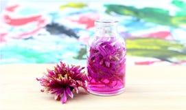 Fleur de rose d'huile d'arome Images libres de droits