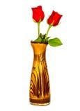 Fleur de Rose sur le vase Photo stock